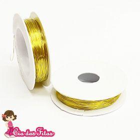 Cabelo de Anjo Dourado 0,3mm com 50 Mt