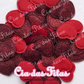 Coração Almofadado com Glitter Melaço