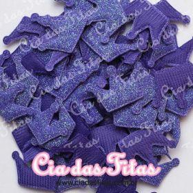 Coroa Almofadado com Glitter Melaço
