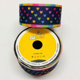 Fita de Gorgorão Coração Colorido 3295-17 38mm