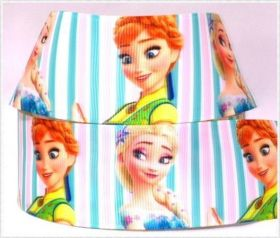 Fita de Gorgurão Ana e Elsa Princess 38mm x 1mts