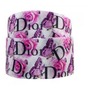 Fita de gorgurão Dior Floral 38mm x 1mts