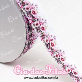 Fita de Gorgurão Floral 117 38mm x 5mts