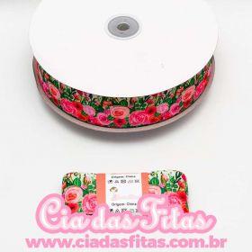 Fita de Gorgurão Floral GF109 38mm x 5mts