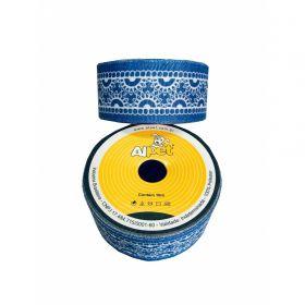 Fita de Gorgurão Jeans com Renda 3300-17 38mm
