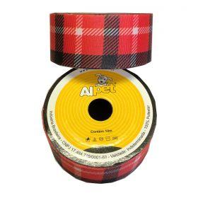 Fita Quadriculada Vermelho e Preto 3346-15 Alpet 38mm