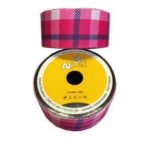 Fita Quadriculada Listra Pink 3346-10 Alpet 38mm
