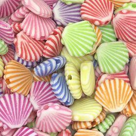 Miçanga Infantil Colorida Conchas 25g