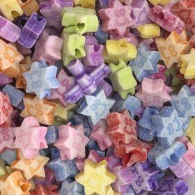 Miçanga Infantil Colorida estrela 25Grs