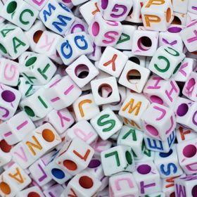 Miçanga Infantil Letras Alfabeto Fundo Branco 25g (Atente-se a Observação)