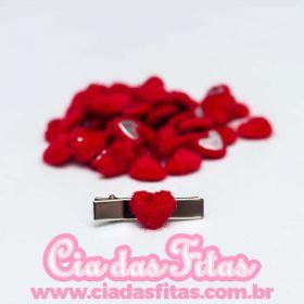 Mini Coração 16mm para Hair Clip 5 unidades