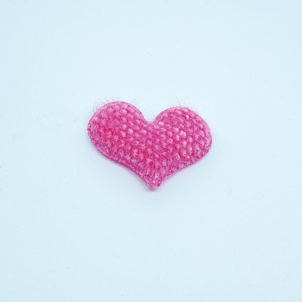 Coração Almofadado de Tecido 5,0cmx4,0cm