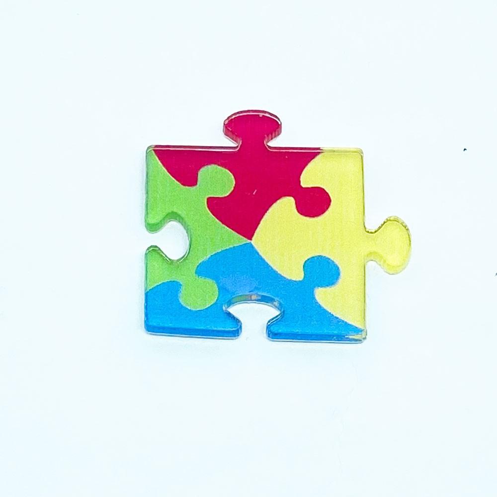 Aplique Acrílico Autismo 3,0 * 3,2 cm