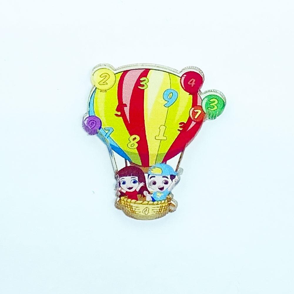 Aplique Acrilico Balão 3,5 * 3,0 cm