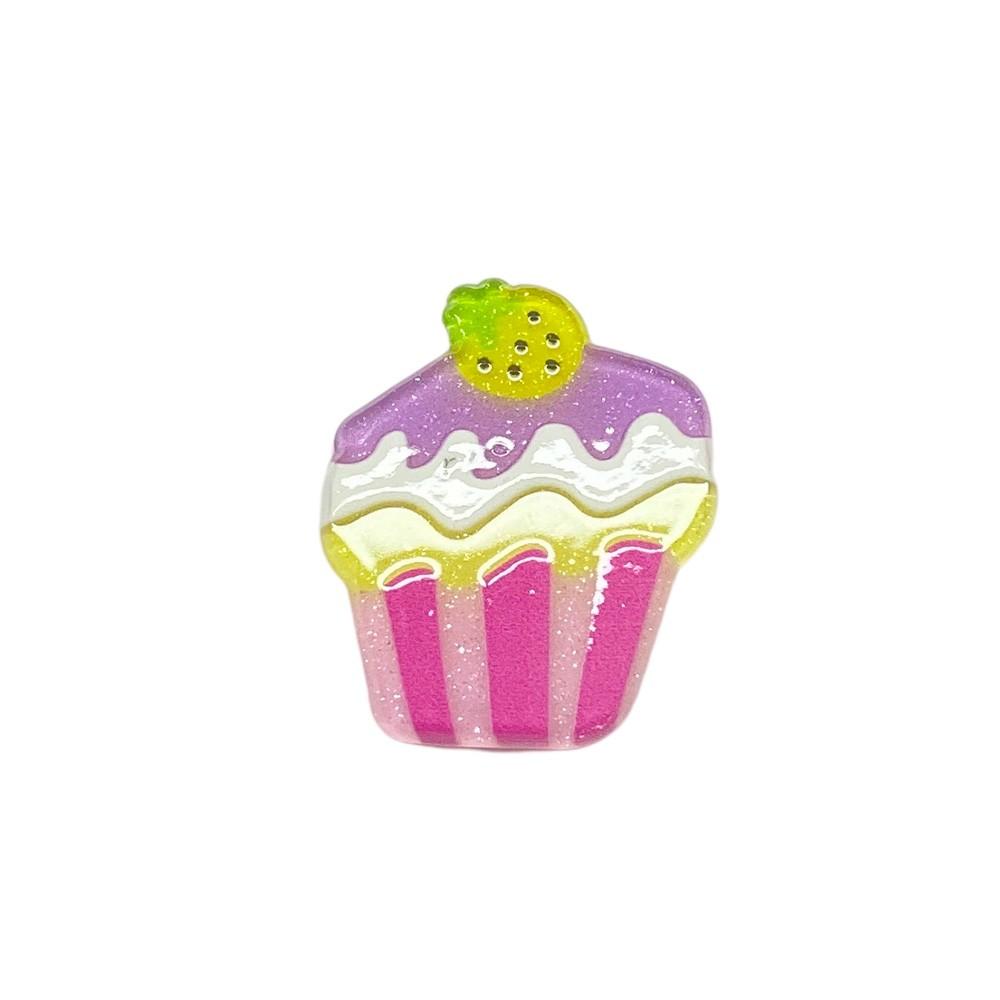 Aplique Acrílico Cupcake Glitter Kw (unidade)
