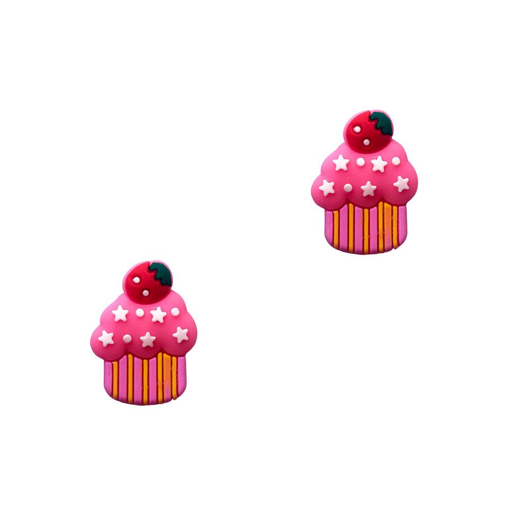 Aplique Emb. Cupcake c/Estrelas - 1 Unidade