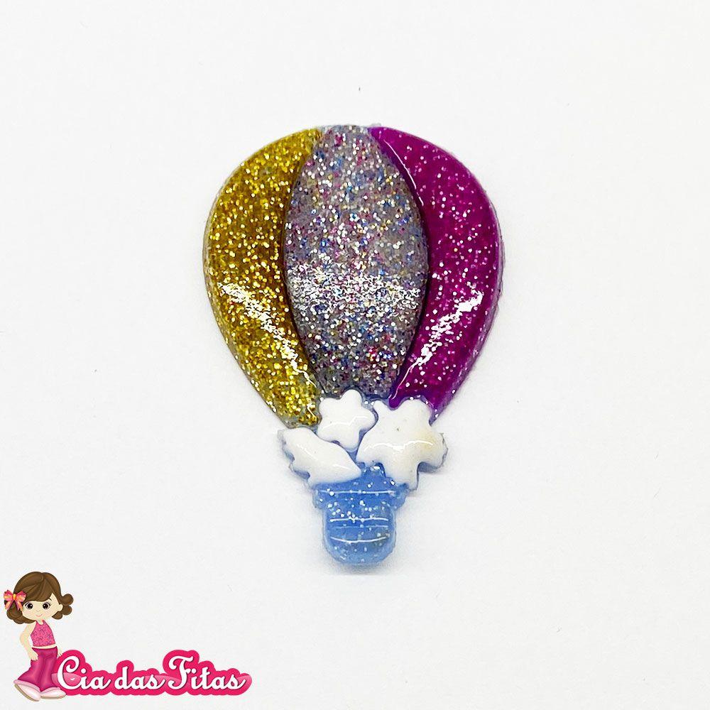 Aplique emborrachado Balão Glitter (unidade)