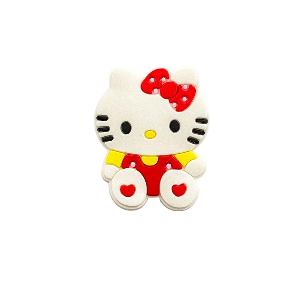 Aplique emborrachado Hello Kitty Vermelha com Amarelo (unidade)