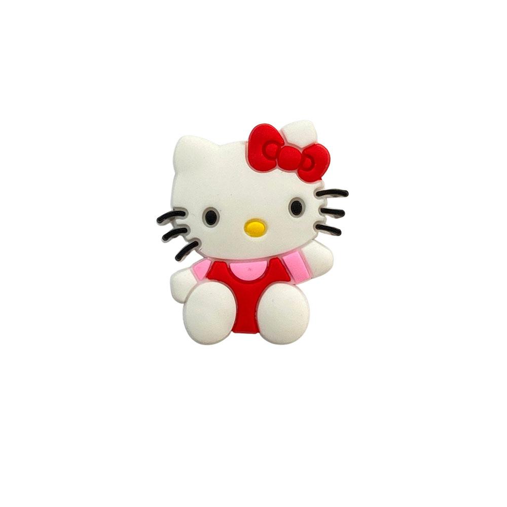 Aplique emborrachado Hello Kitty Vermelha com Rosa (unidade)