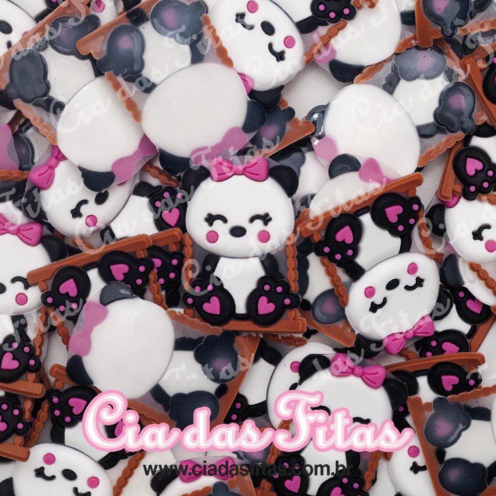 Aplique emborrachado Panda no Balanço (unidade)