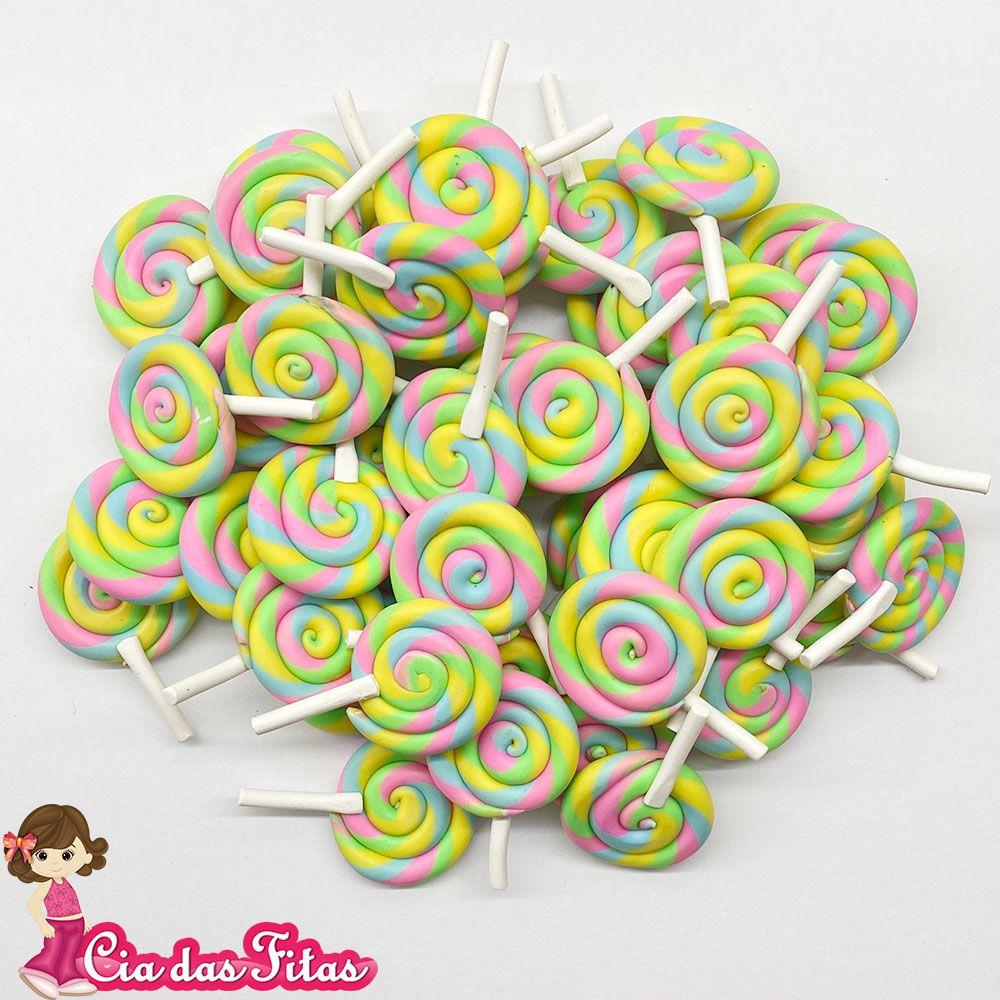 Aplique Emborrachado Pirulito Candy Color (unidade)