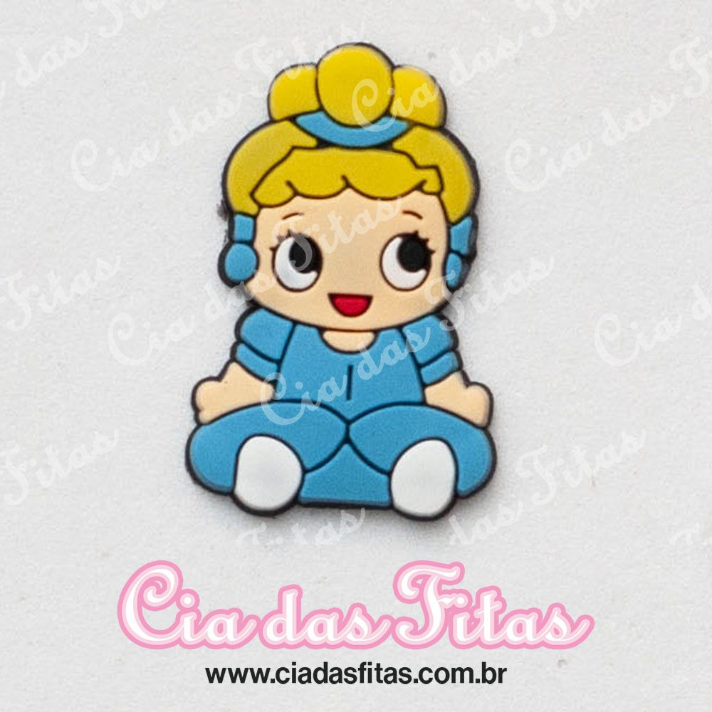 Aplique emborrachado Princesa Cinderela (unidade)
