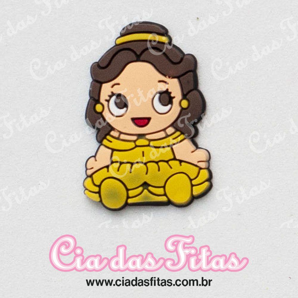 Aplique emborrachado Princesa roupa Amarela (unidade)