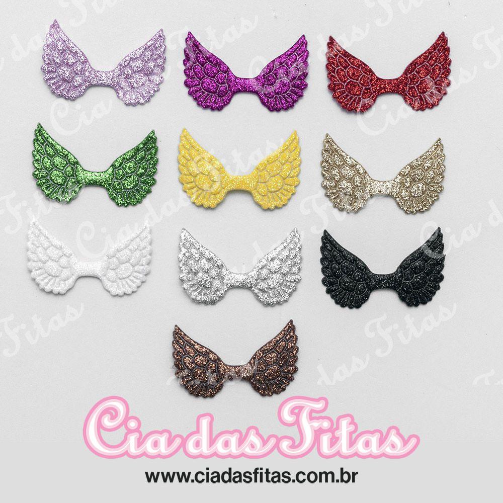 Asas Glitter 3,5x5,5cm