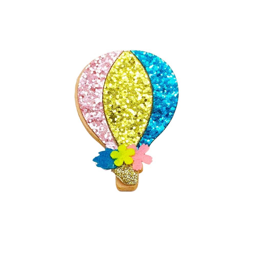 Balão Glitter e Feltro 6,5cmx4,5cm