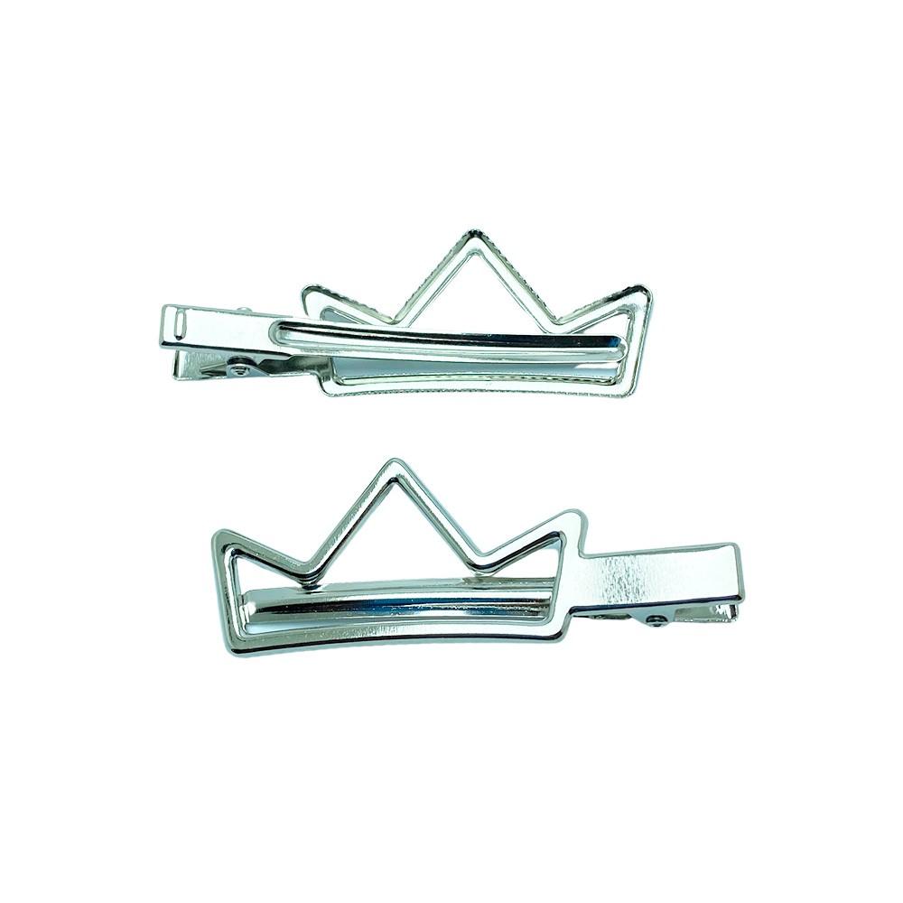 Bico de Pato Prata - Coroa 7,0cm / Pct 10 unidades