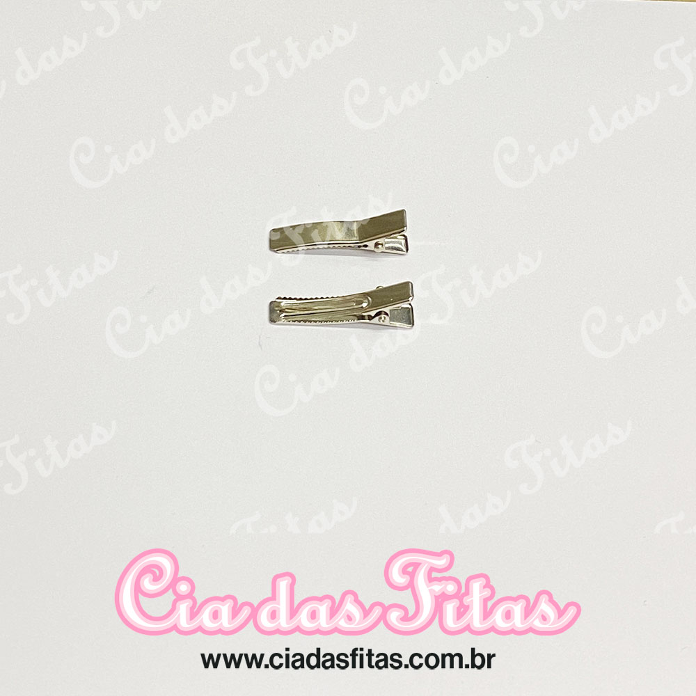 Bico de Pato Prata Reforçado 3,5cm - 50 Unidades