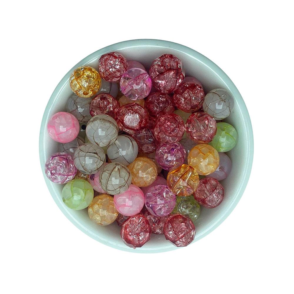 Bola Craquelada de Resina 12mm Colorida com 25 Gramas