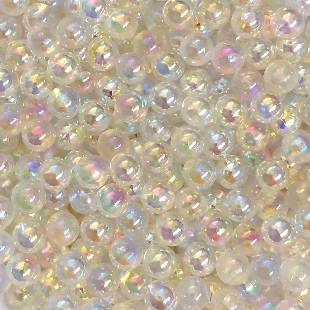 Bola Plástica 20g Cristal sem furo 6mm Para aplicador de perolas ( Sem Taxinha )