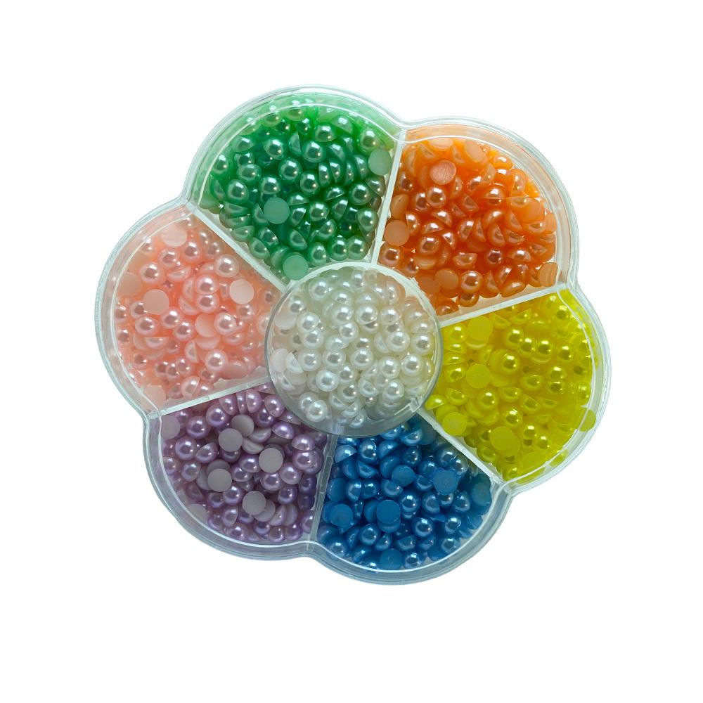 Caixinha Meia Perola 5mm com 7 cores