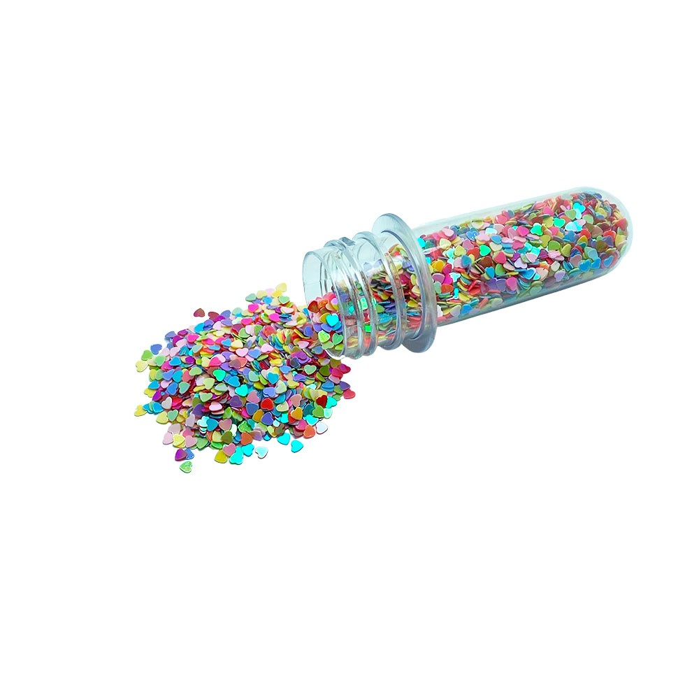 Confete Coração Mini Holográfico 3mm com 15 Gramas