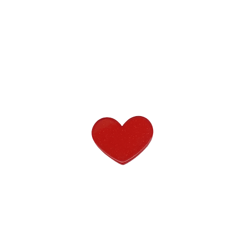 Coração Acrílico 3cm x 3,5cm