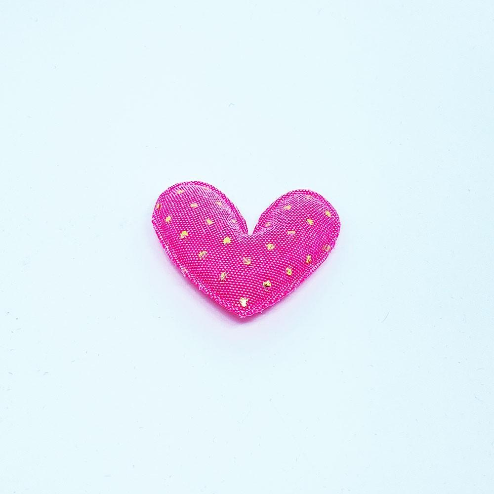 Coração Almofadada Pink com Poa
