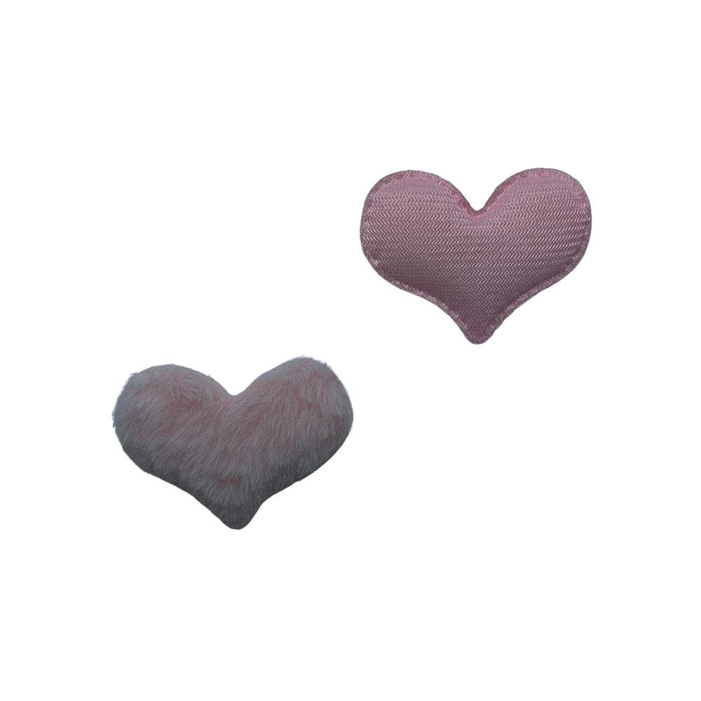 Coração de Pelúcia 55*45mm - 1 Unidade