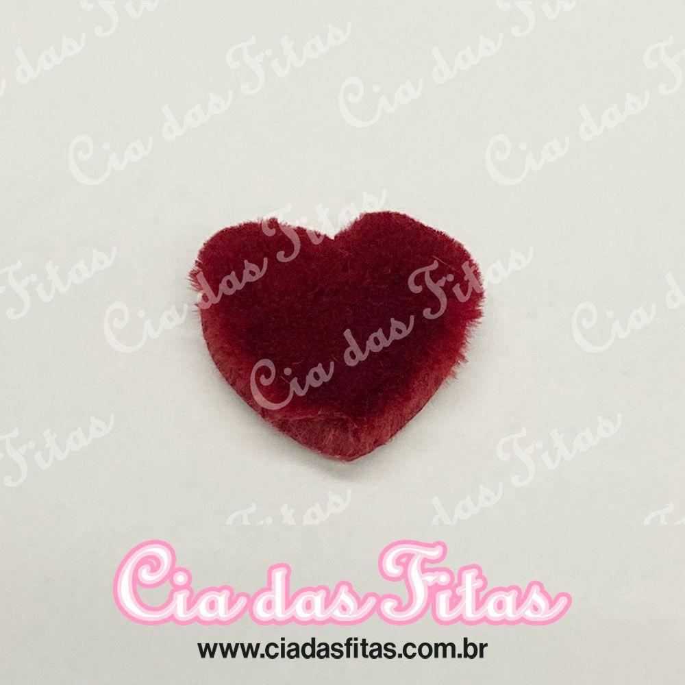 Coração de Pelucia 5cm x 5,5cm
