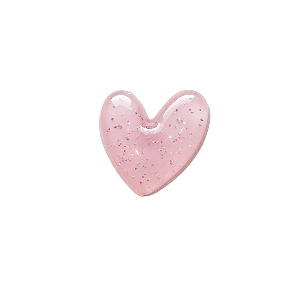 Coração de Resina com Glitter 2,5cm