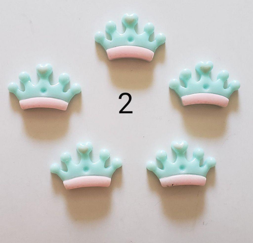 Coroas de resina 5 unidades