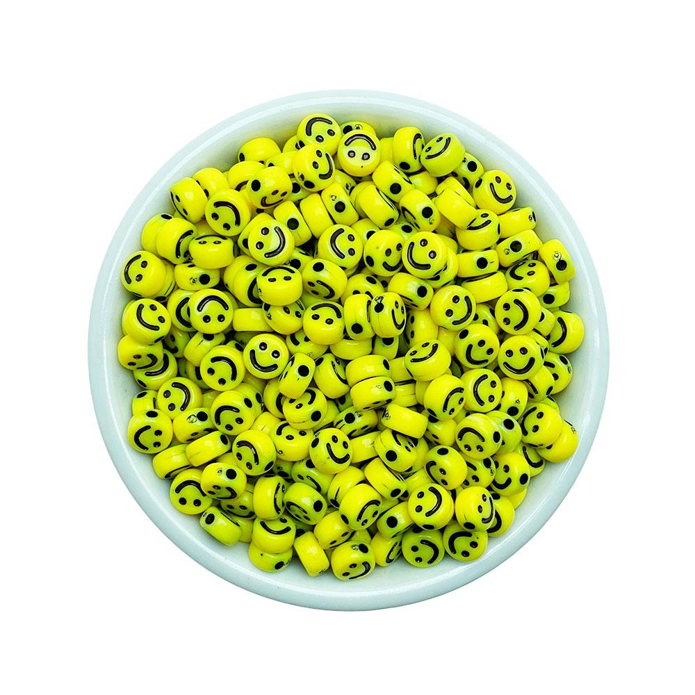 Entremeio Smile Disco 7mm Amarela - 25 Gramas