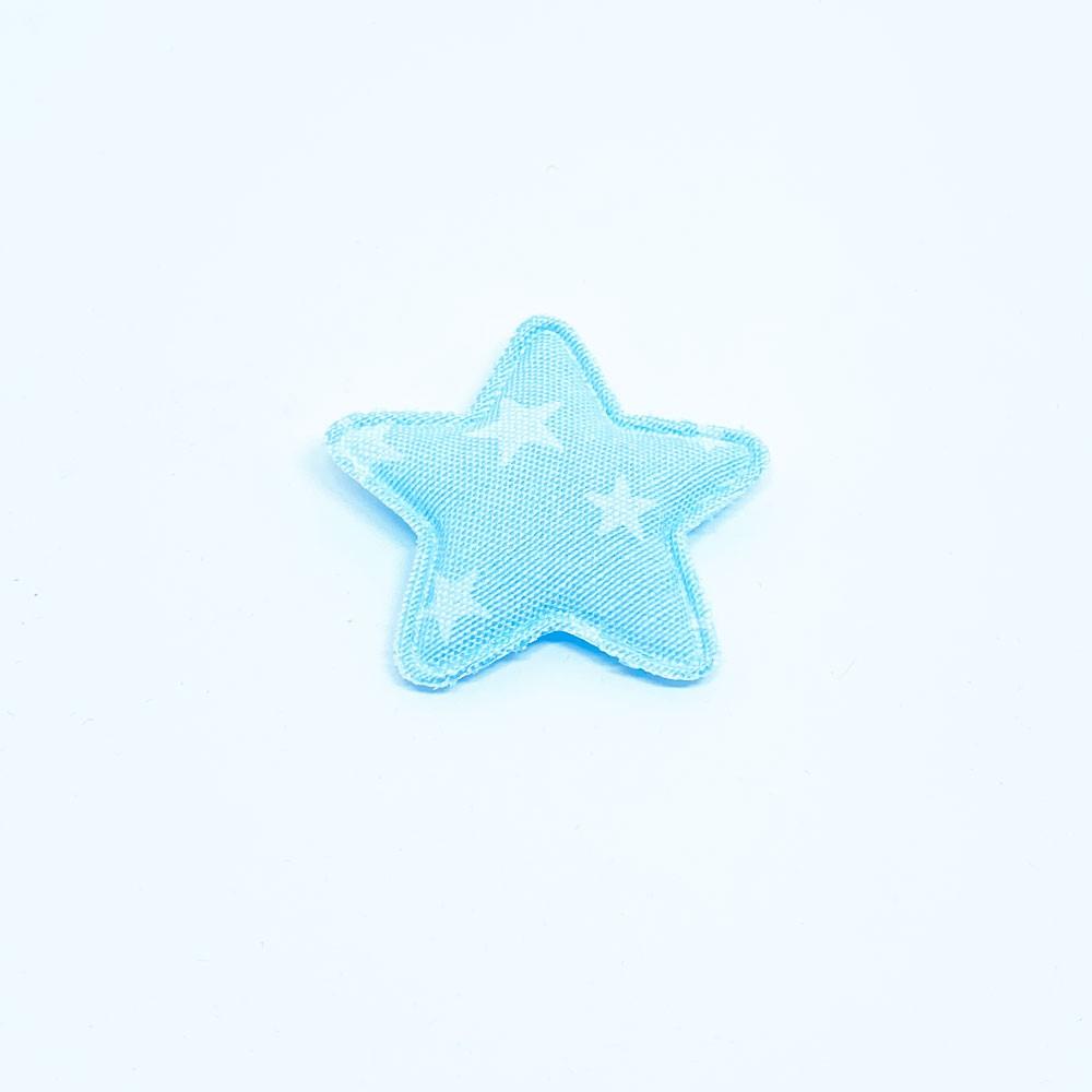 Estrela Almofadada Jeans com Estrela