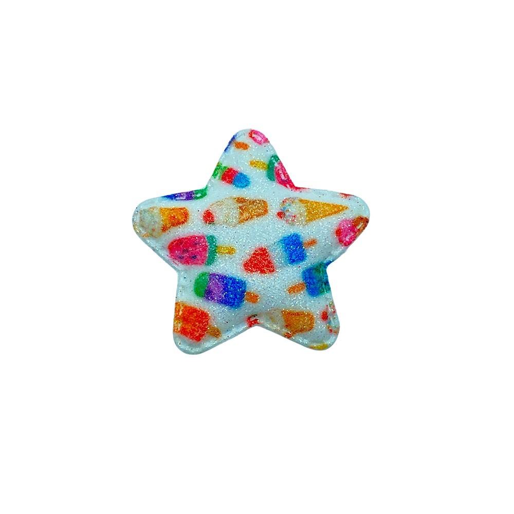 Estrela Almofadado Branco Sorvete 50x45mm