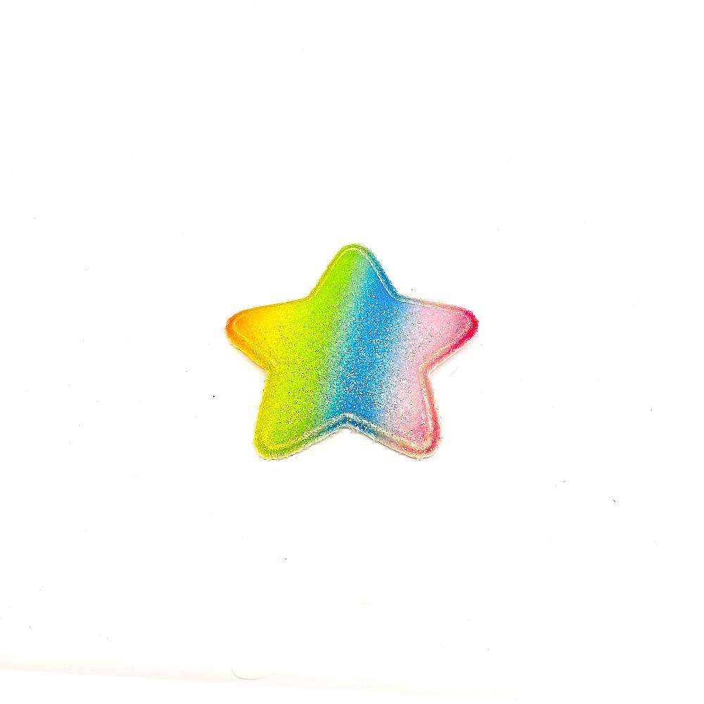 Estrela Almofadado Candy Colorida 5cm