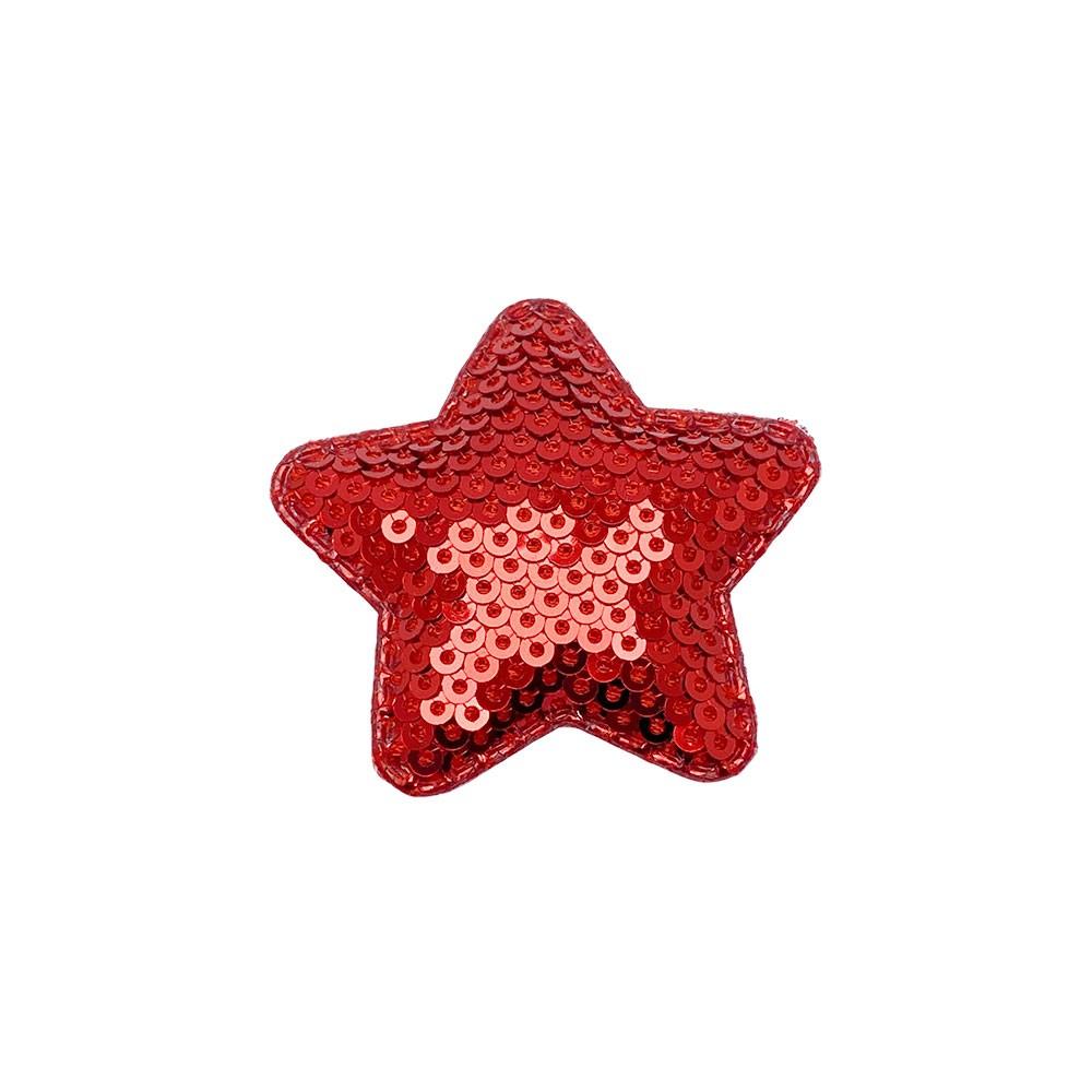 Estrela Almofadado com Paetê 45x50mm