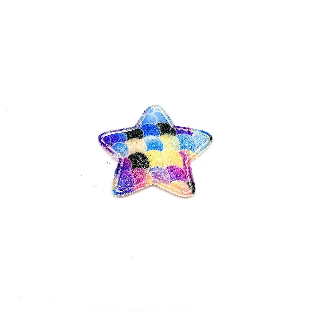 Estrela Almofadado Escama Colorida 5cm