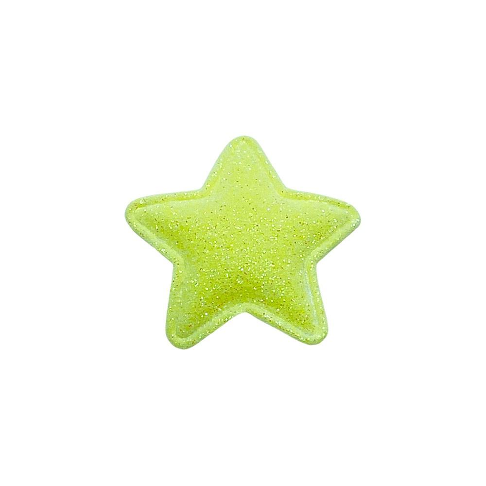 Estrela Almofadado Glitter Fino 38mm