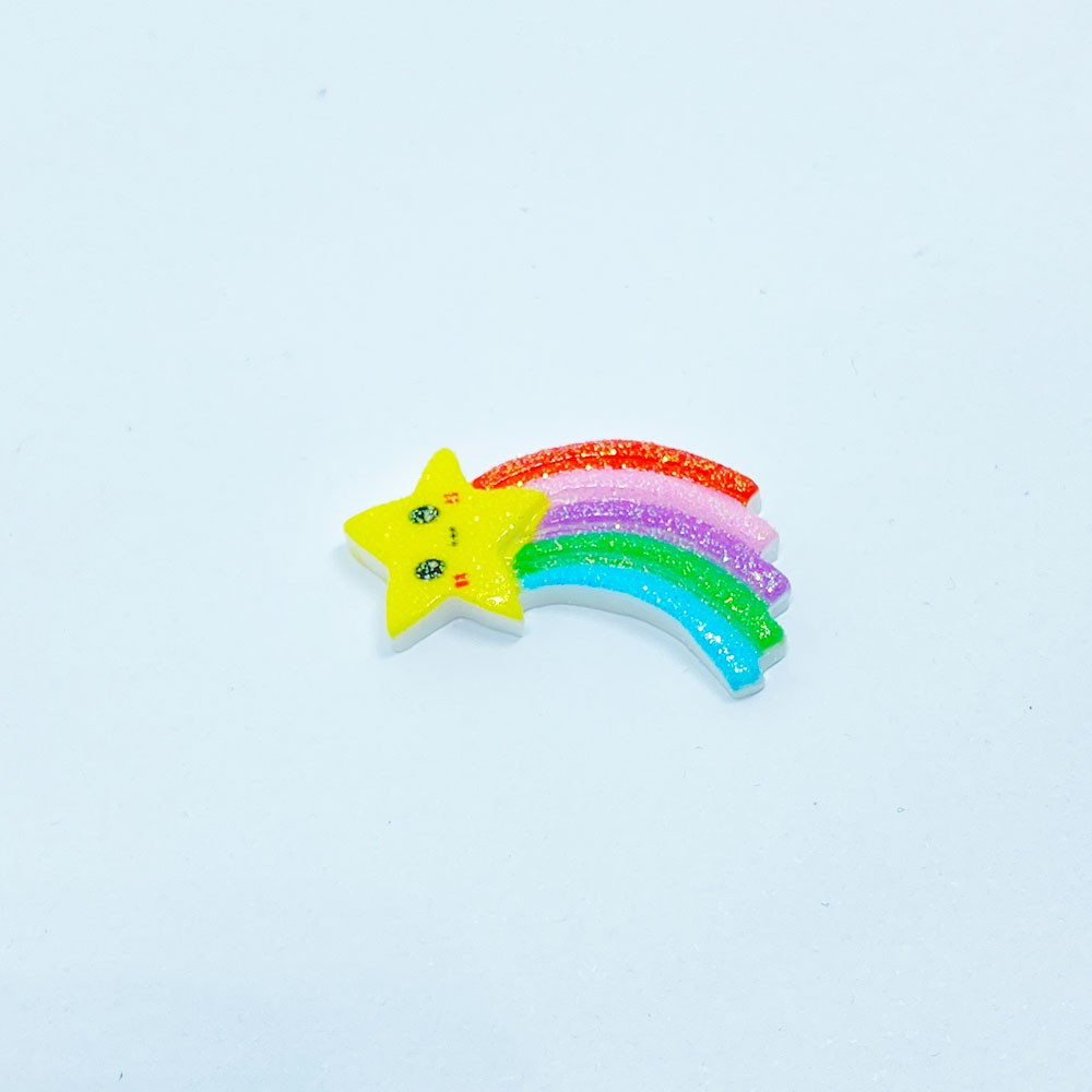 Estrela arco-íris 17x30mm Resina Colorido