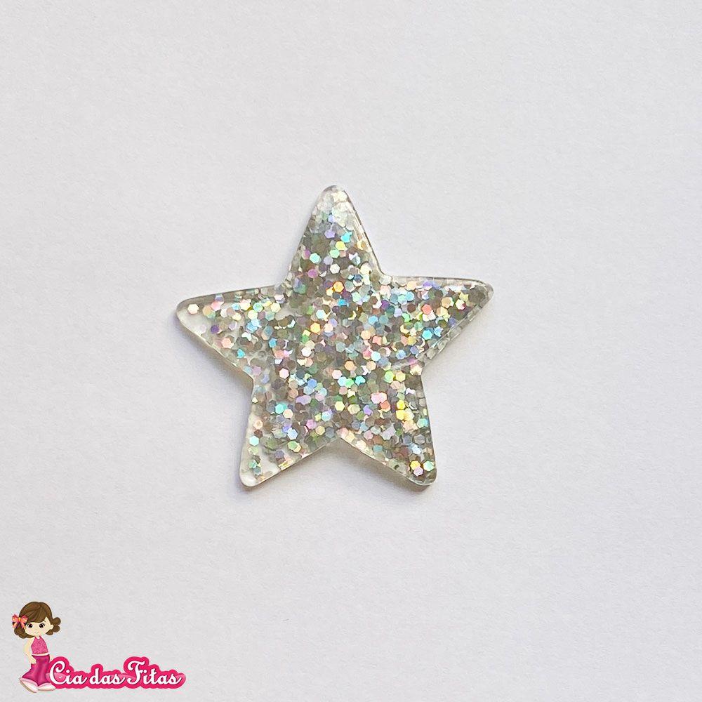 Estrela de Resina com Glitter 3,5cm
